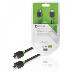 KNV 34000E 5.00 High Speed HDMI Cable with Ethernet HDMI Connector 5.00 m Anthra