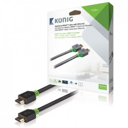 KNV 34000E 10.0 High Speed HDMI Cable with Ethernet HDMI Connector 10.0 m Anthra