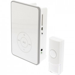 SAS-WDB 211 Wireless Doorbell, USB and SD slots, Battery Powered 80 dB White/Gre