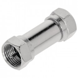 VLSP 41941M Antenna Adapter F-Male - F-Male Silver