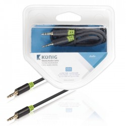 KNA 22000E 0.50 Stereo Audio Cable 3.5 mm Male - 3.5 mm Male 0.50 m Anthracite