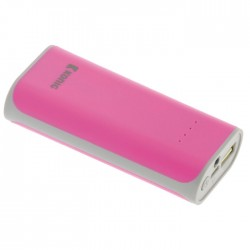 KN PB 5000PI Portable Power Bank 5000 mAh USB Pink