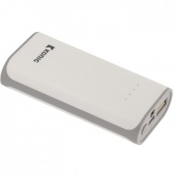 KN PB 5000WH Portable Power Bank 5000 mAh USB White