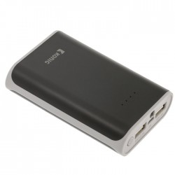 KN PB 7500BL Portable Power Bank 7500mAh USB Black
