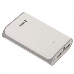 KN PB 7500WH  Portable Power Bank 7500mAh USB White