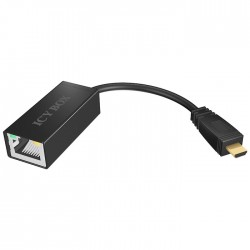ICY BOX IB-AC510 micro USB 2.0 to Ethernet 10/100 Adapter, black / 70538