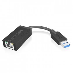 ICY BOX IB-AC501 USB 3.0 (Type-A) to Gigabit Ethernet Adapter, black / 70526
