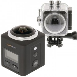 CAMLINK CL-AC360 Full HD Action Camera 360° 2K Wi-Fi / Microphone Black