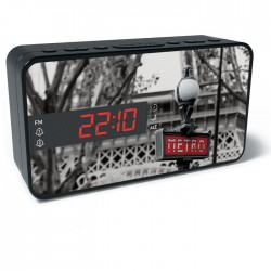 BIGBEN RR15 METRO FM RADIO AND ALARM WITH LED DISPLAY
