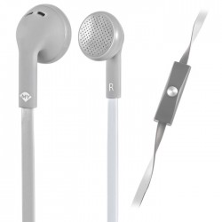MELICONI 497452 MYSOUND SPEAK FLAT BICOLOR GREY/WHITE IN-EAR STEREO HEADSET (WIT