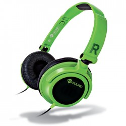 MELICONI 497436 MYSOUND SPEAK SMART FLUO VERDE-NERO ON-EAR STEREO HEADSET (WITH