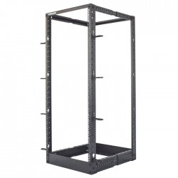 "INT 714242 FLATPACK 19"" 26U (1023x514.5x1295) 4-Post OPEN FRAME RACK BLACK"