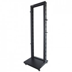 "INT 714235 FLATPACK 19"" 42U (603x600x2006.6) 2-Post OPEN FRAME RACK BLACK"