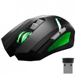 NOD GW-MSE-4G WIRELESS RECHARGABLE GAMING MOUSE BLACK WITH MULTICOLOR LED