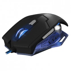 NOD G-MSE-5B WIRED GAMING MOUSE BLACK METAL WITH BLUE LED