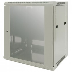 "INT 711876 ASSEMBLED 19"" 12U (635x570x450) WALLMOUNT CABINET GREY"