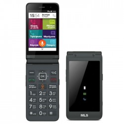 MLS EASY FLIP 4G GREY DUAL SIM