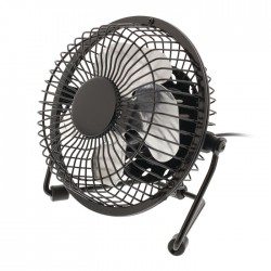 HQ FN04 BL Table Fan 10 cm 2.5 W Metal Black