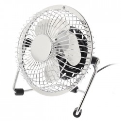 HQ FN04 SI Table Fan 10 cm 2.5 W Metal Silver