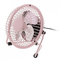 HQ FN04 PI Table Fan 10 cm 2.5 W Metal Pink