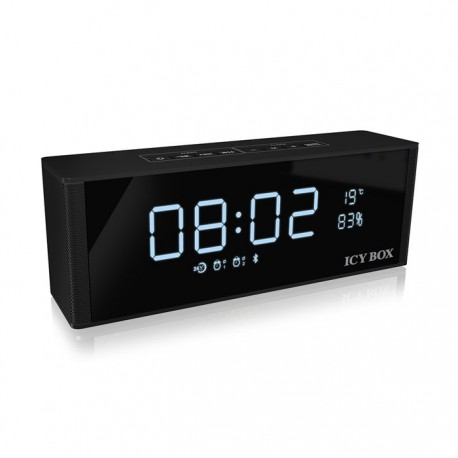 ICY BOX IB-SP101-BT Bluetooth FM radio, clock, alarm, speaker and MP3 Player /