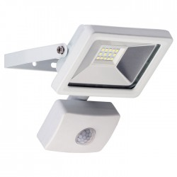 59082 LED OUTDOOR FLOODLIGHT WITH MOTION SENSOR WHITE 10W 830lm