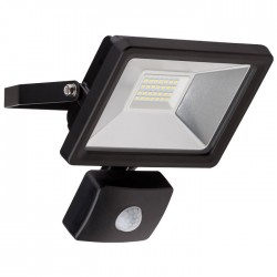 58999 LED OUTDOOR FLOODLIGHT WITH MOTION SENSOR BLACK 20W 1650lm