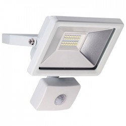 59083 LED OUTDOOR FLOODLIGHT WITH MOTION SENSOR WHITE 20W 1650lm