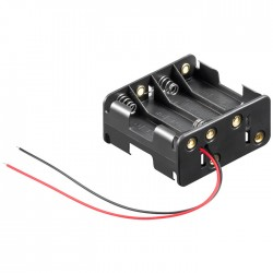 81218 BATTERY HOLDER 8x MIGNON AA WITH LOOSE CABLE ENDS