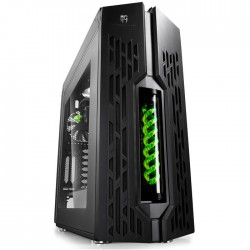DEEPCOOL GENOME II BK-GN ATX CASE BLACK-GREEN