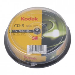 KODAK CD-R 52x 700MB 10-Pack