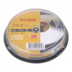 KODAK CD-R Printable 52x 700MB 10-Pack