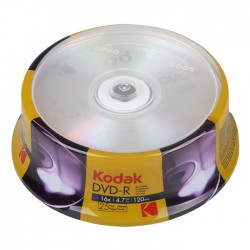 KODAK DVD-R 16x 4.7GB 25-Pack