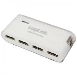 Usb Hub Logilink UA0086 White+ PSU