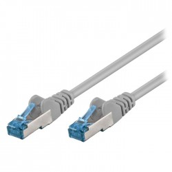 93680 CAT 6A S/FTP (PiMF) PATCH CABLE CU 1.00m GREY