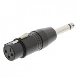 SWEEX SWOP 15940B XLR Adapter XLR 3-Pin Female - 6.35 mm Mono Male Black