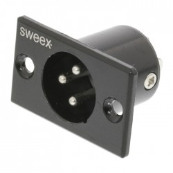 SWEEX SWOP 15910B Connector XLR 3-Pin Male Nickel-Plated Black