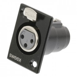 SWEEX SWOP 15911B Connector XLR 3-Pin Female Nickel-Plated Black