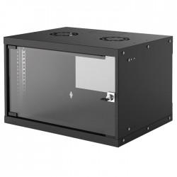 "INT 714143 FLATPACK 19"" 6U (353x540x400) BASIC WALLMOUNT CABINET BLACK"