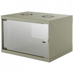 "INT 714150 FLATPACK 19"" 6U (353x540x400) BASIC WALLMOUNT CABINET GREY"