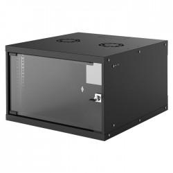 "INT 714785 FLATPACK 19"" 6U (353x540x560) BASIC WALLMOUNT CABINET BLACK"