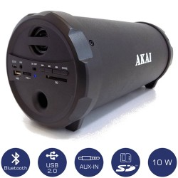 AKAI ΦΟΡΗΤΟ ΗΧΕΙΟ BLUETOOTH 10W - FM RADIO, MP3 PLAYER