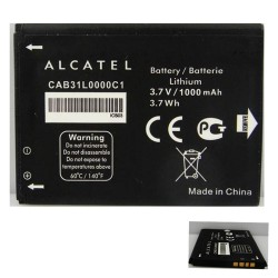 ALCATEL OT 3040 - ORIGINAL BATTERY 1000mAh LI-ION, BULK