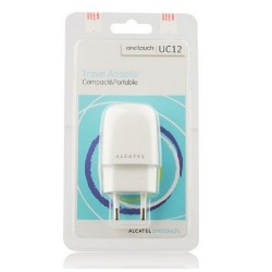 ALCATEL Scribe Easy - ORIGINAL TRAVEL CHARGER USB 1A WHITE BLISTER