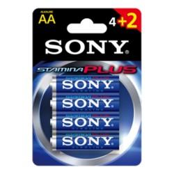 Αλκαλική Μπαταρία SONY AA LR6 Stamina Plus Blister 4 τεμ + 2 Δώρο