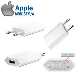 APPLE - ORIGINAL TRAVEL CHARGER A1400 WHITE BULK