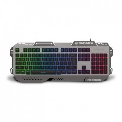 Keyboard RGB Zeroground KB-2300G SAGARA