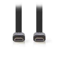 NEDIS CVGP34100BK50 Flat High Speed HDMI Cable with Ethernet HDMI Connector-HDMI