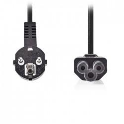 NEDIS CEGP10100BK20 Power Cable Schuko Male Angled-IEC-320-C5 2.0m Black