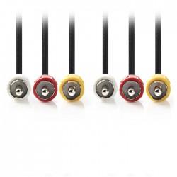 NEDIS CVGP24300BK30 Composite Video Cable 3x RCA Male-3x RCA Male 3.0 m Black